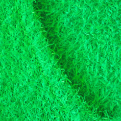 Shaggy Muppet or Easter Grass Bright Green Hairy Ugly Sweater 2