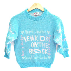 Vintage 80s 90s NKOTB New Kids On The Block Ugly Sweater