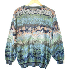 Colorful Sediment V-Neck Tacky Ugly Golf / Cosby Sweater