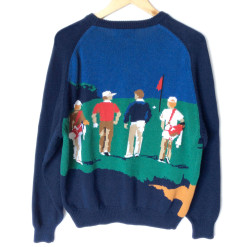 Hathaway Loud Obnoxious Tacky Ugly Golf Sweater