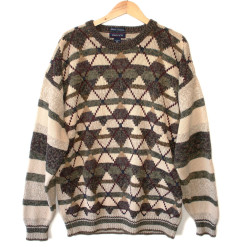Olive & Tan Argyle Cosby / Golf Ugly Sweater - Big / Tall