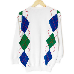 Pringle of Scotland Argyle Tacky Ugly Golf Sweater