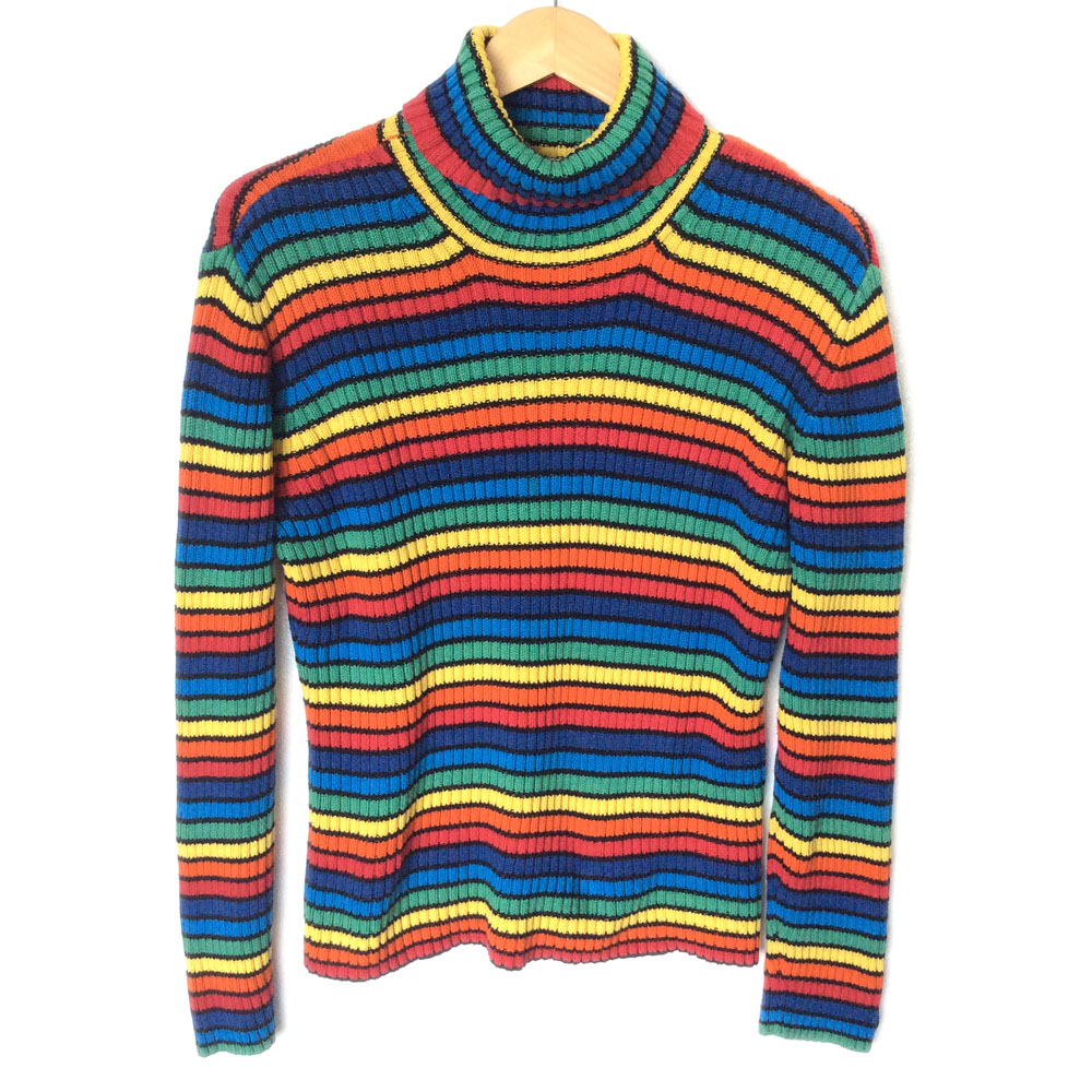 Tommy Hilfiger Ribbed Rainbow Pride Turtleneck Ugly