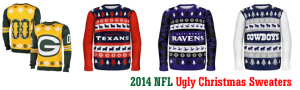 2014 NFL Ugly Christmas Sweaters