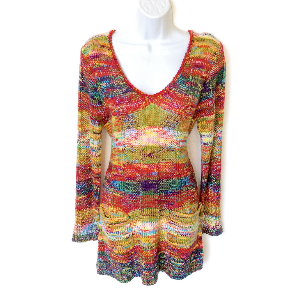 Quot My Crayons Melted Quot Soft Ugly Sweater Dress New The