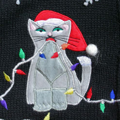 Deformed Kitties and Grumpy Cat Tacky Ugly Christmas Sweater