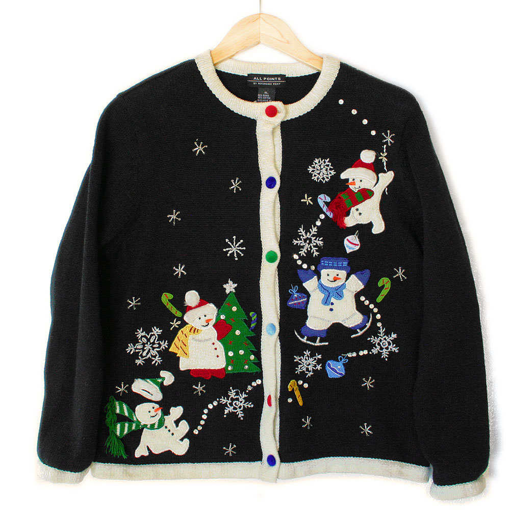 Four Snowmen Tacky Ugly Christmas Sweater The Ugly