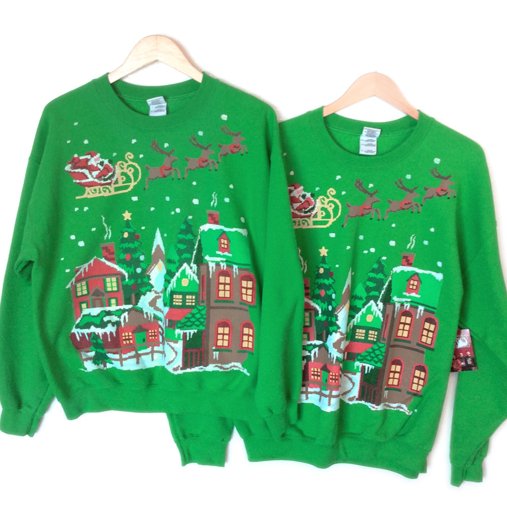The perfect gift for Ugly Christmas matching sweatshirts for Xmas Fiaya Merry Christmas Family Matching Christmas Dress Sweater Sweatshirt Parent-Child Outfits. by Fiaya. $ Material of ugly Christmas sweater: polyester+Spandex; soft, breathable Fenta Christmas Baby Sweater Parent-Child Outfits Age Merry Christmas. by Fenta.