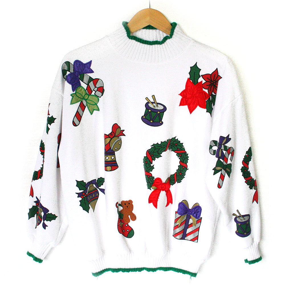 Vintage 80s Ugly Christmas Sweater Sweatshirt Mashup - The ...