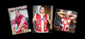 big men ugly christmas sweater vests
