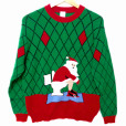 Pooping Santa VERY Tacky Ugly Christmas Sweater