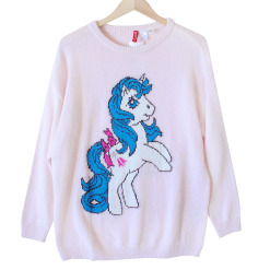 H&M Vintage Look My Little Pony Long Sweater - Pink