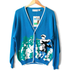 Players by Van Heusen Men's Tacky Ugly Golf Sweater / Cardigan