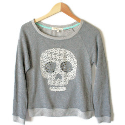 Lace Skull Lightweight Boxy Ugly Sweatshirt