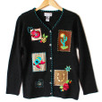Bead Embellished Western Country Cowgirl Ugly Sweater