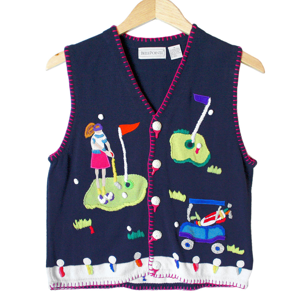 Cheap ugly christmas sweater vest
