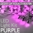 led light kits from the ugly sweater shop purple