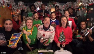 one direction jimmy fallon ugly christmas sweaters