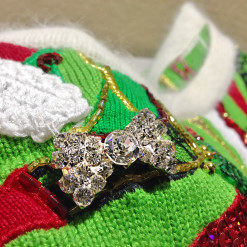 Berek Blingy High Heel Shoes Sequin Tacky Ugly Christmas Sweater