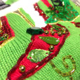 Berek Blingy High Heel Shoes Sequin Tacky Ugly Christmas Sweater 5