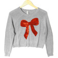 Bethany Mota Sequin Bow Ugly Christmas Sweater