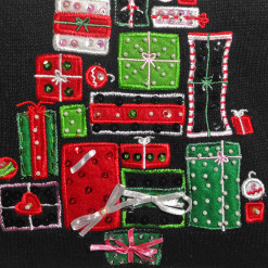 Christmas Tree of Presents Tacky Ugly Holiday Sweater