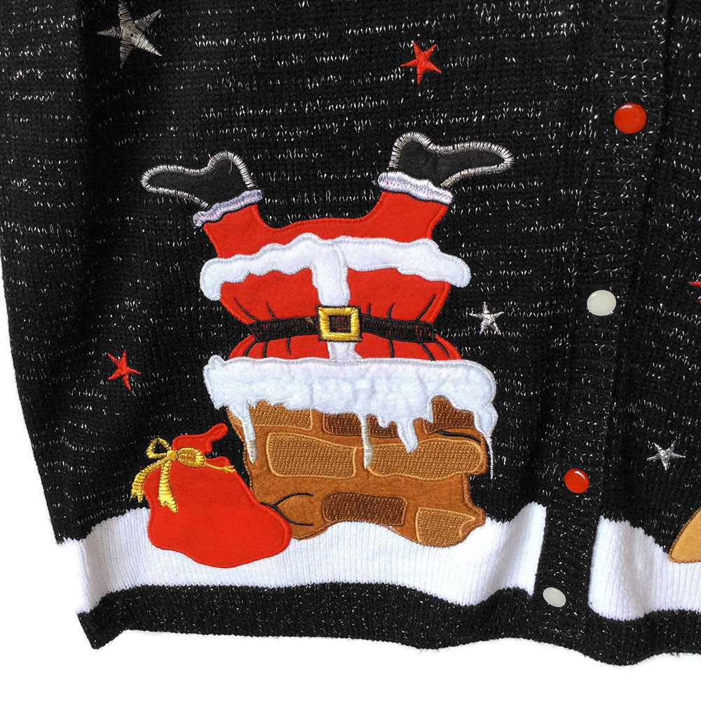 Santa S Stuck In The Chimney Tacky Ugly Christmas Sweater
