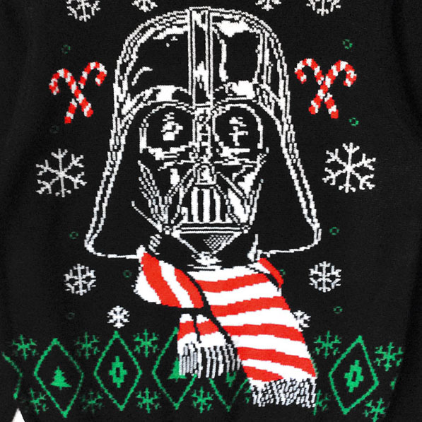 Star Wars Darth Vader Striped Scarf Ugly Christmas Sweater