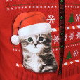 Kitty In My Pocket Crazy Cat Dude Faux Ugly Christmas Sweater Sweatshirt 2