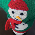 Knit Ugly Christmas Sweater For Your Bottle of Wine – Green Snowman 2