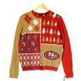 NFL Licensed San Francisco 49ers Busy Block Ugly Christmas Sweater