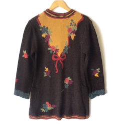 Autumn Leaves Cardigan Long Wool Ugly Sweater