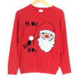 Big Head Santa Tacky Ugly Christmas Sweater