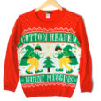 Cotton Headed Ninny Muggins Tacky Ugly Christmas Sweater From Elf Movie