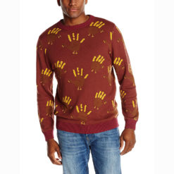Handprint Turkey Tacky Thanksgiving Ugly Sweater by Alex Stevens