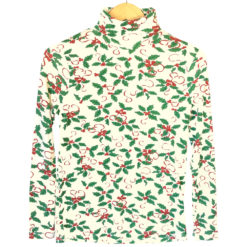 Holly Jolly Tacky Ugly Christmas Turtleneck