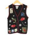 Mittens and Cardinal Tacky Ugly Christmas Sweater Vest