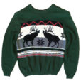 Reindeer Classic Nordic Ugly Christmas Sweater - Green