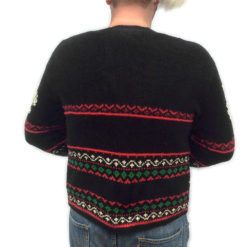 Snowflakes and Christmas Trees Tacky Ugly Cardigan Sweater