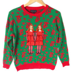 The Shining Twins Tacky Ugly Christmas Sweater