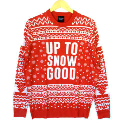 Up To Snow Good Tacky Ugly Christmas Sweater