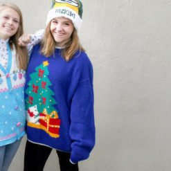 Vintage 80s Cat Attack Tacky Ugly Christmas Sweater