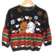 Vintage 80s Sparkle Teddy Bears In Love Tacky Ski Or Ugly Christmas Sweater