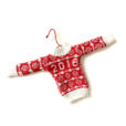 2016 Fair Isle Ugly Christmas Sweater Ornament