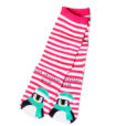 Just Chillin' Y'all Striped Penguin Ugly Christmas Socks