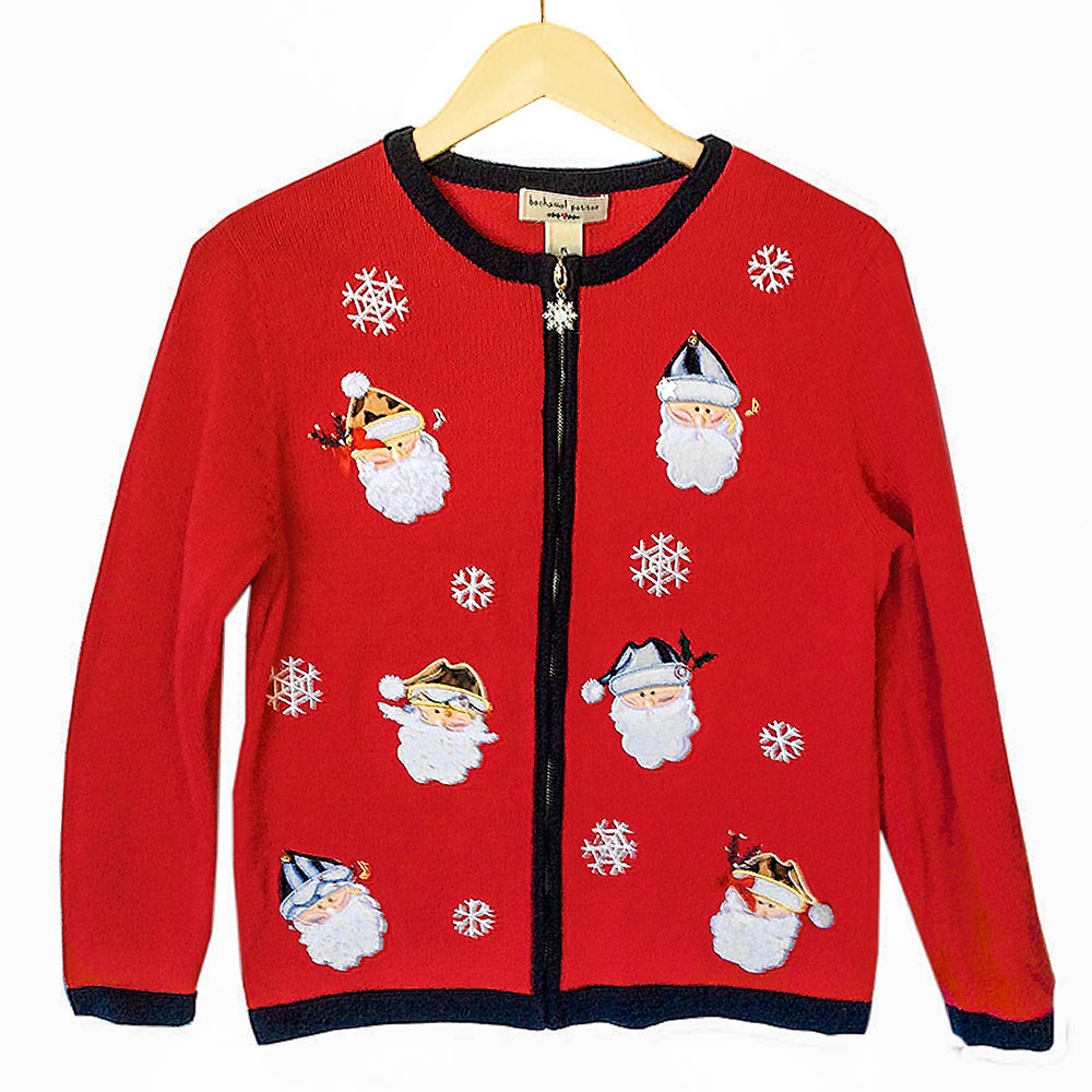 Snowmen In Hats Tacky Ugly Christmas Sweater The Ugly