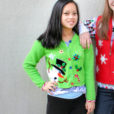 Surprise Snowman Tacky Ugly Christmas Sweater