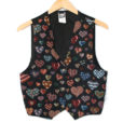Gloomy Hearts Valentines Day Tapestry Fabric Ugly Sweater Vest