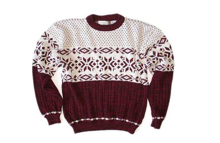 Vintage 80s 90s Acrylic Nordic Ugly Ski Christmas Sweater Men's ...