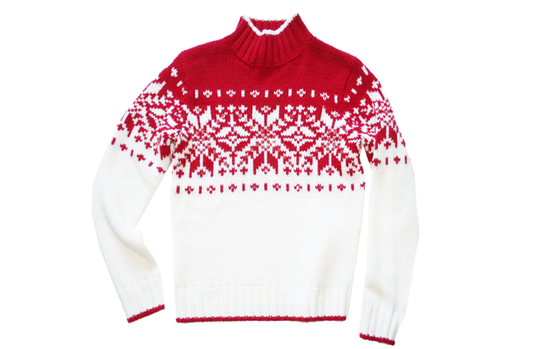 Soft! Red & White Nordic Tacky Ugly Ski Sweater Women's Size Small ...